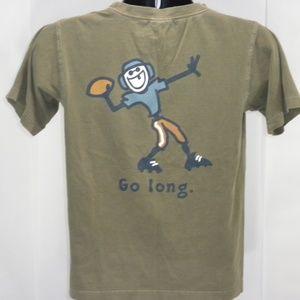 Life Is Good Youth Boys 12 Go Long Football Tshirt